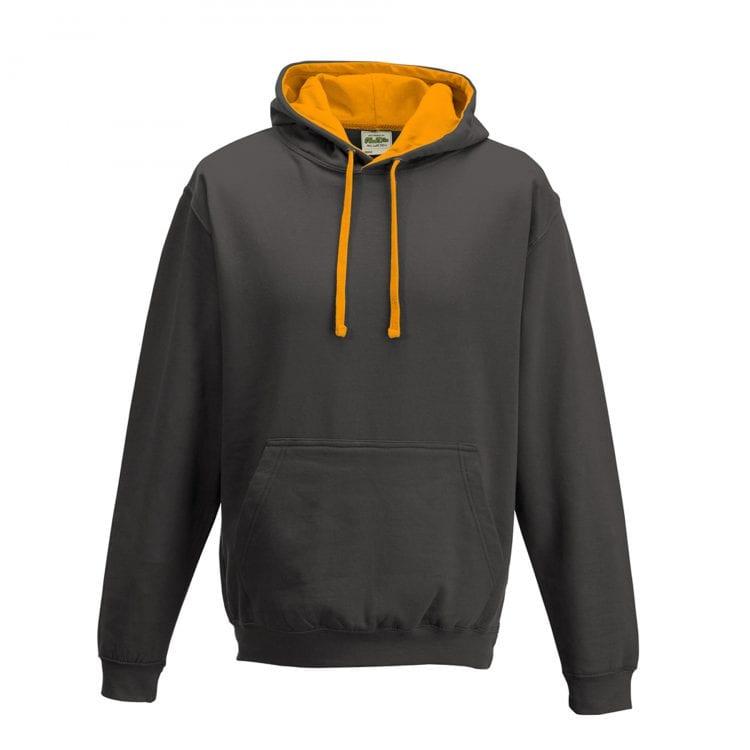 Charcoal / Orange crush