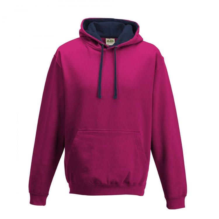 Hot pink // Navy