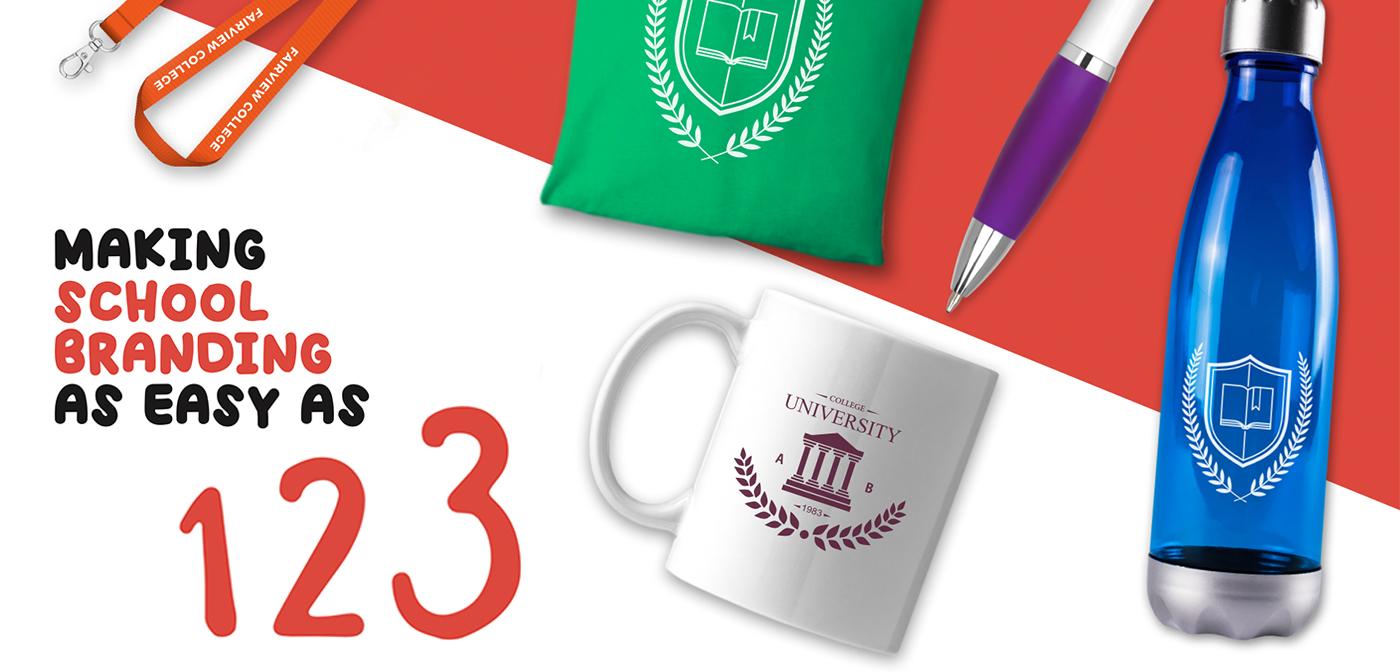 Making school branding as easy as 1,2,3!